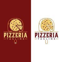 ilustração do logotipo da pizza. gráfico vetorial de comida restaurante pizzaria vetor