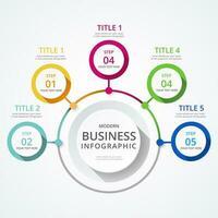 Gráficos de informação de negócios vetor