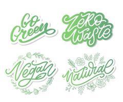eco go green orgânico natural vegan vetor