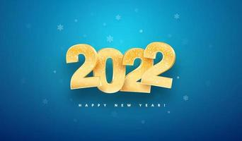 Ilustração em vetor celebração feliz ano novo 2022.