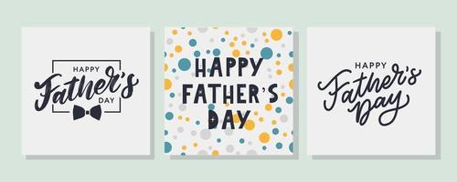 vetor escrito à mão citação melhor pai de todos os tempos. cartão do dia dos pais