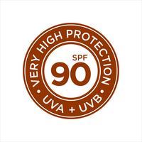 UV, proteção solar, bloco total SPF 90 vetor
