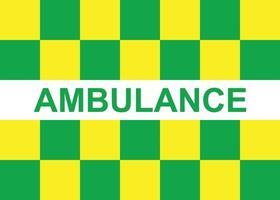 modelo de marcação de ambulância Battenburg para seu projeto vetor