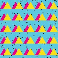 Sem costura vintage padrão abstrato com triângulos no estilo de 80 s.