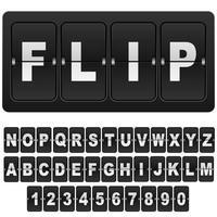 flip números e letras do relógio do calendário digital de contagem regressiva. vetor