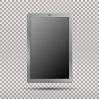 computador tablet pc realista com tela em branco vetor