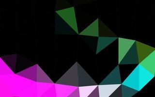 fundo abstrato do polígono do vetor do arco-íris multicolor, escuro.