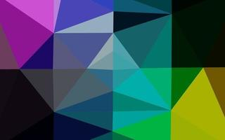 luz multicolorida, vetor de arco-íris brilhante modelo triangular.