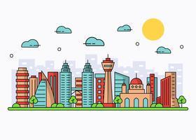 Vetor de Citysape de Kuala Lumpur