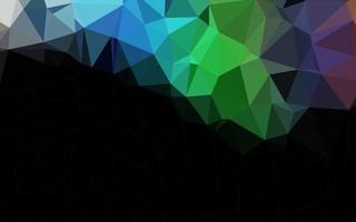 modelo de mosaico de triângulo de vetor de arco-íris multicolorido claro.