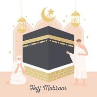 cartão islâmico hajj mabrour vetor