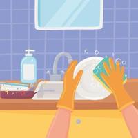 louça para lavar as mãos vetor