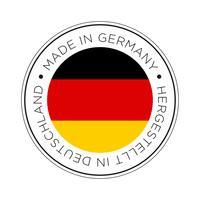 Feita no ícone de bandeira da Alemanha. vetor