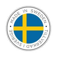 Feita no ícone de bandeira da Suécia. vetor