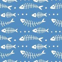 padrão infantil de crianças marinhas com animais subaquáticos vetor