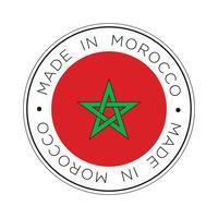 Feita no ícone de bandeira de Marrocos. vetor