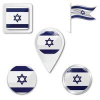 conjunto de ícones da bandeira nacional de israel vetor