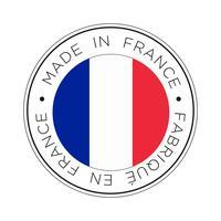 Feita no ícone de bandeira de França. vetor