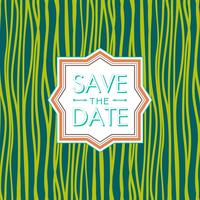 Salve o estilo de data. Convite de casamento. tendência de cor verde flash.
