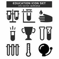 definir vetor de ícone de educação 1 - estilo glifo