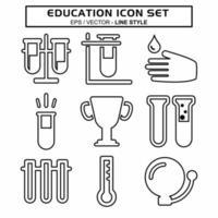 definir vetor de ícone de educação 1 - estilo de linha