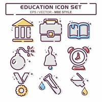 definir vetor de ícone de educação - mbe syle