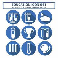 definir vetor de ícone de educação 1 - estilo sombra longa