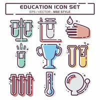 definir vetor de ícone de educação 1 - estilo mbe