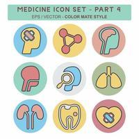definir vetor de ícone do medicamento parte 4 - estilo companheiro de cor