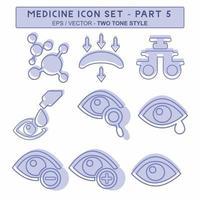 definir vetor de ícone da parte 5 do medicamento - estilo de dois tons