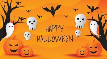ilustração vetorial de fundo de halloween vetor