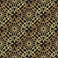 Arte deco de luxo ouro fundo vintage vetor