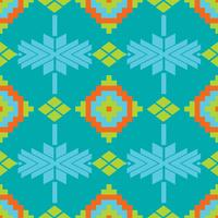 Padrão sem emenda de têxteis de rendilhado folclórico mexicano vetor