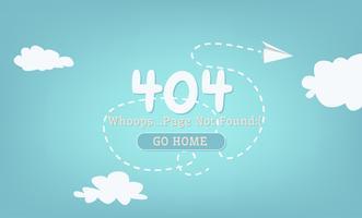 Quebra Página 404 Not Found. Ilustração plana vetor