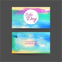Conjunto de dois cartões de visita criativos vetor