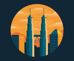 Ilustração de Kuala Lumpur vetor