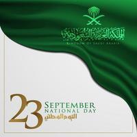 Dia da Nação do Reino da Arábia Saudita saudação desenho vetorial de fundo vetor
