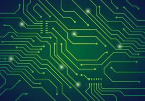 Ilustração em vetor de placa de circuito impresso