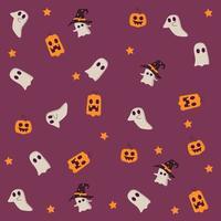 padrão de halloween sem costura vetor