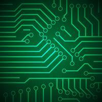 placa de circuito impresso vetor