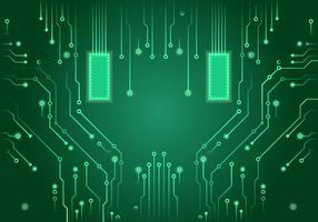 Vetor de placa de circuito impresso verde