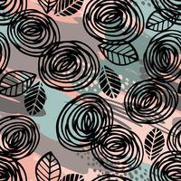 Abstrata floral padrão sem emenda com rosas. vetor
