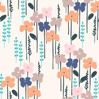 Padrão sem emenda abstrato floral. Desenho vetorial para surfases diferentes.