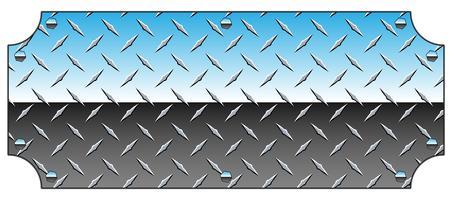 Placa de diamante de cromo brilhante Metal sinal fundo ilustração vetorial vetor