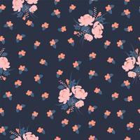 Padrão sem emenda abstrato floral. Desenho vetorial para surfases diferentes. vetor