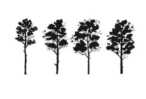 coleção de vetores de silhuetas de árvores da floresta