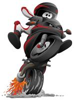 Ilustração dos desenhos animados de vetor de motocicleta Sportbike