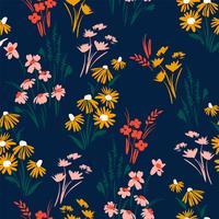 Padrão sem emenda floral. Desenho vetorial