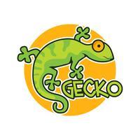 gecko lagarto personagem vetor