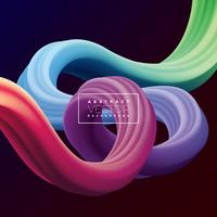 Fundo de linha de curva colorida 3D abstrata vetor